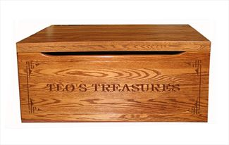 Amish Chest Personalized Toy Chest Oak Chest Deluxe Two Safety Hinges