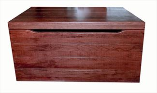 Amish Toy Chest Solid Hardwood Oak Deluxe Two Safety Hinges