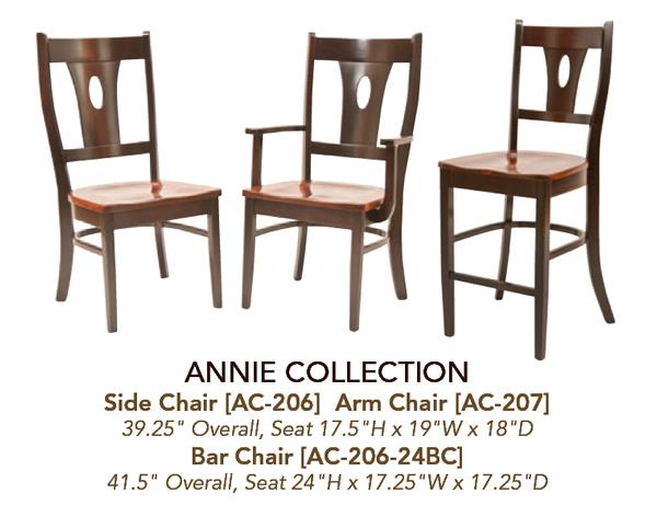 Amish Modern Curved Support Back Dining & Kitchen Side Arm Bar Stool  Desk furniture Hardwood Lumbar Support