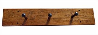 Amish CHERRY Three PEG Coat Rack Flat Solid Cherry Hardwood Handmade
