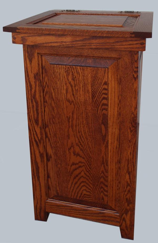 This Is A Unique And Useful Amish Furniture Oak Hinged