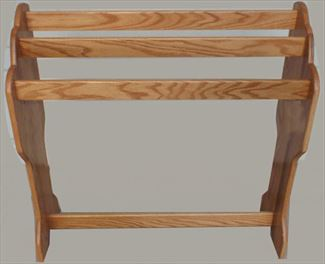 Amish Waterfall Hardwood Oak Hand Made Quilt Rack