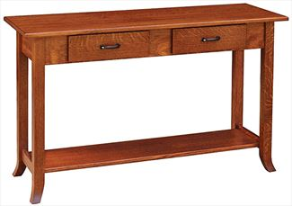 Bunker Hill SOFA Table Amish Oak or Cherry Table Newest Style & Hardwoods