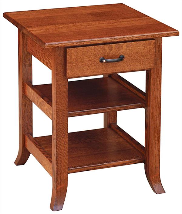 Bunker Hill End or Lamp Table Amish Oak or Cherry Table Newest Style & Hardwoods