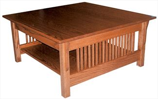 Amish Prairie Mission Square Coffee Table 18 inches high x 36 inches width