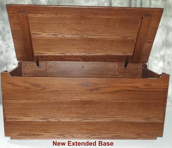 Amish Chest Child's Toy Chest Chest Thirty Inch Deluxe Two Safety Hinges