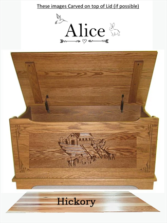 Wood Toy Box-chest-Amish TOY Chest flat top Personalized Optional