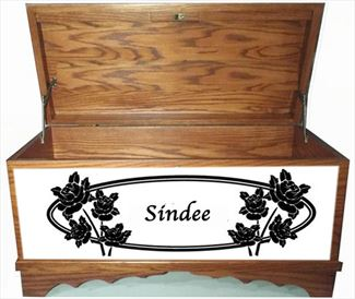 Hope Chest Amish chest Love Never Fails, OAK, MEDIUM