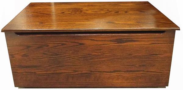 Amish Plain Front OAK Wood Toy Box-Chest-Amish All Hardwwod Anti-Slam Hinges