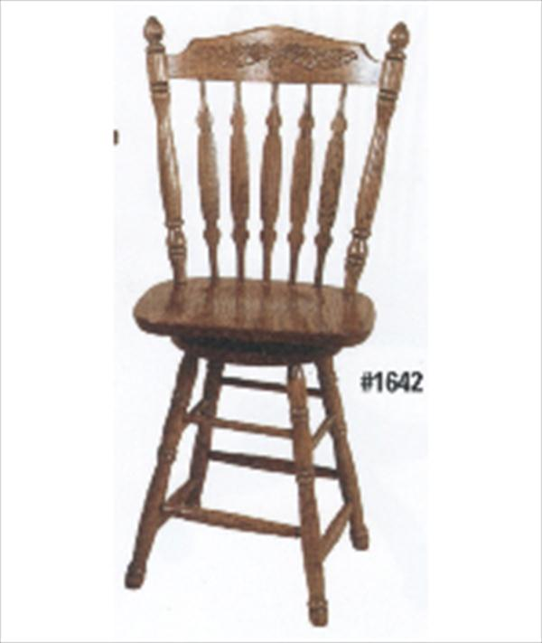 Amish  Royal Acorn Side Seat Swivel Bar Stool Amish Furniture Oak or Cherry or Brown Maple or QS Oak or Hickory Swivel Stool