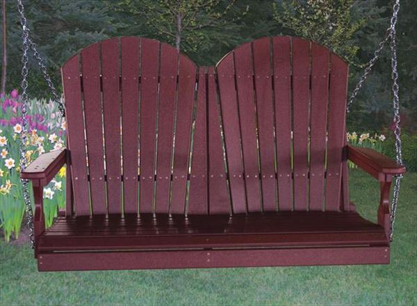 Amish OUTDOOR Furniture Poly Vinyl Adirondack Back PORCH SWING XXX foot