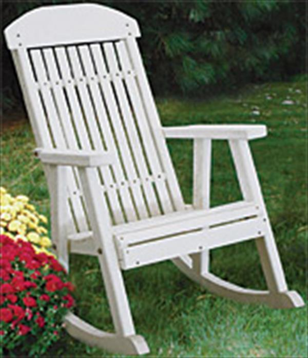 Amish OUTDOOR Furniture Poly Vinyl PORCH Rocker