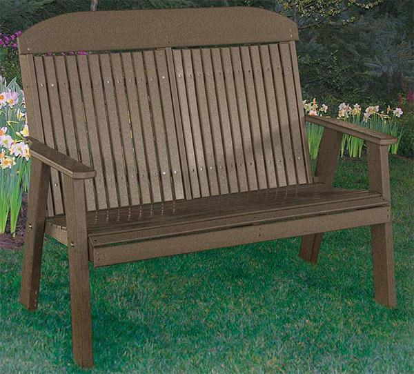 Poly Ohio Amish OUTDOOR Furniture Four Foot Bench Classic Design