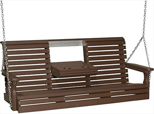 Amish OUTDOOR Furniture Poly Vinyl Plain Back PORCH SWING Two Color
