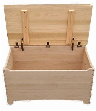 Amish Wooden Toy Box Chest Shaker-maple-Dovetail-safety hinges
