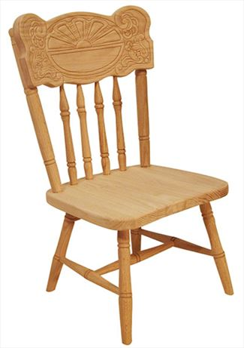 Amish Childs SUNBURST Oak Hardwood Amish Chair