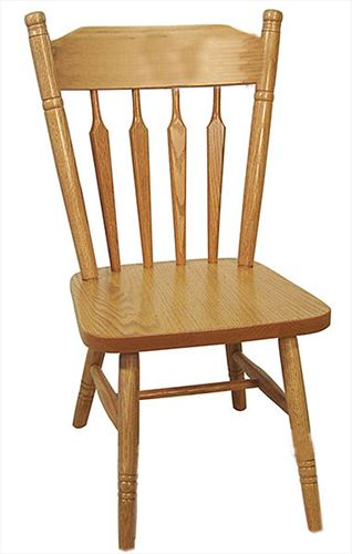 Amish Childs PLAIN BACK Tall Oak Hardwood Amish Chair