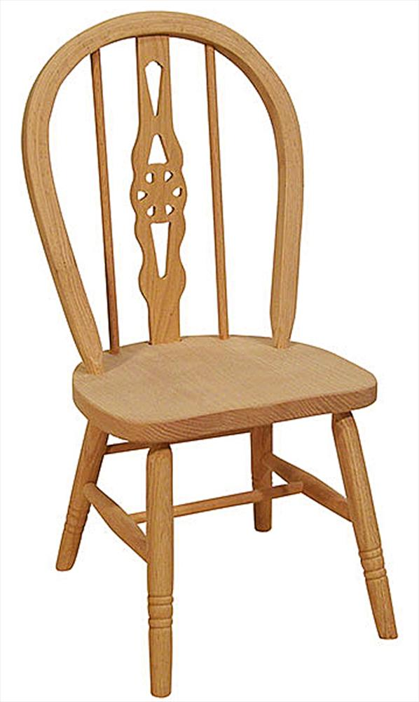 Amish Childs WINDSOR Oak Hardwood Amish Chair