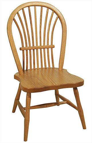 Amish Childs Amish Ohio Furniture Bow Sheaf Oak Amish Side Chair