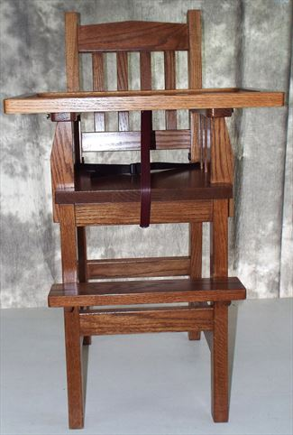 Amish Mission Harvest Stain Baby Furniture-High Chair-wood-Slide Tray