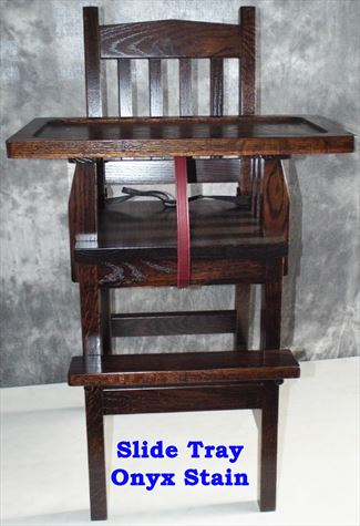 Mission Baby Furniture-High Chair-wood-Amish-Mission Slide Tray!