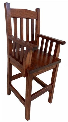 Toddler Youth Furniture HardWood OAK Chair With ARMS Amish Mission Style