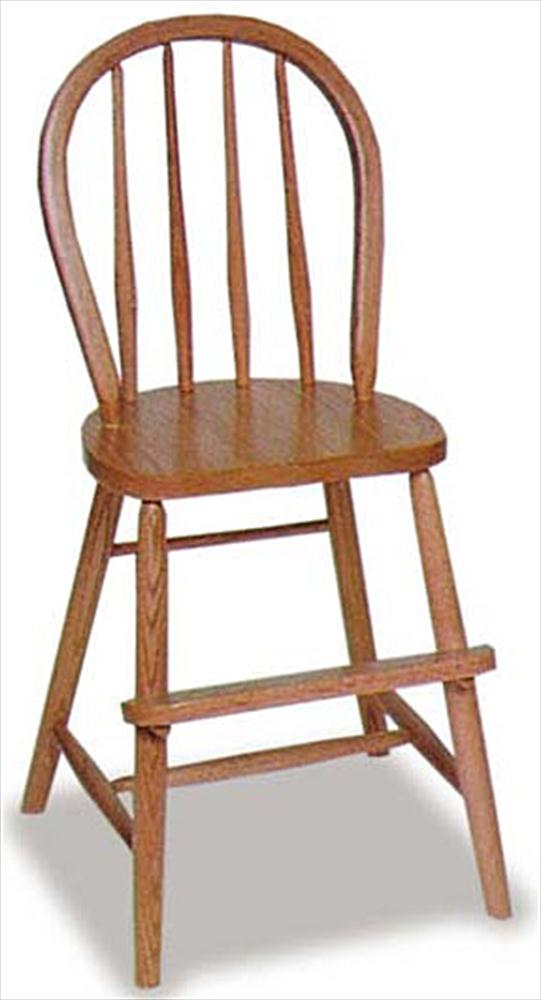 Amish Kids Furniture Child YOUTH Chair Oak Bow Back