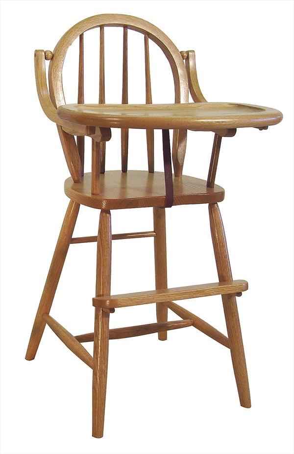 Baby Furniture-Wood High Chair-Amish-bow back