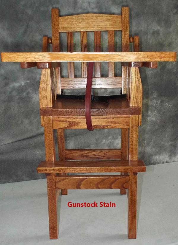 Baby Furniture Wood High Chair Amish Mission Style Onyx Finish