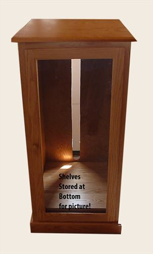 Amish Made Oak Stereo Cabinet