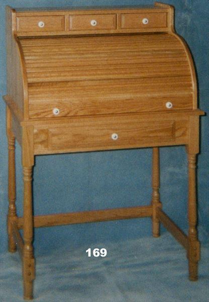 Amish Student Oak Rolltop Desk Classic Styling