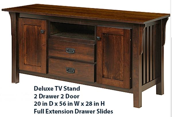 Amish Mission Tv Stand 56 Inch Hardwood Delivery Included
