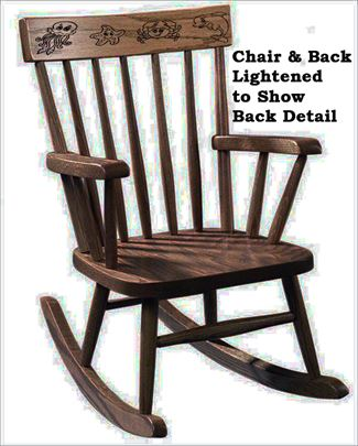 amish kids furniture rocking chair oak or cherry curved comback carved