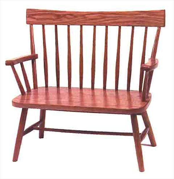Amish Childs Hardwood Oak Bench