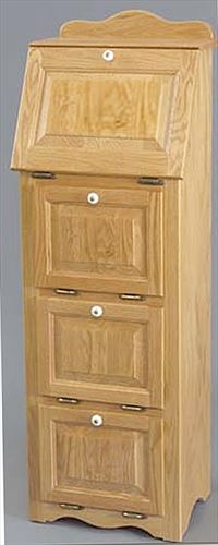 Amish Veggie Bin Oak Hinged Raised Panel Three Door Veggie Bin and TOP Bread Box Kitchen Storage NC