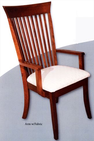 Amish Carlisle Shaker Arm Chair Oak and Cherry Hardwood
