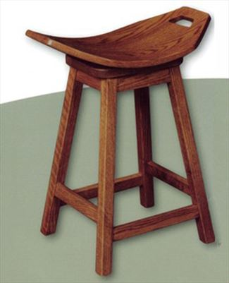 Amish Mission Swivel Stool Amish Furniture Oak or Cherry or QS Oak or Hard Maple or Hickory Swivel Saddle Stool