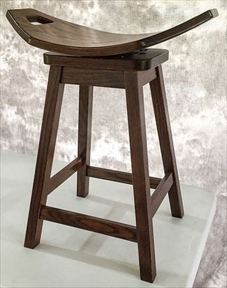 Amish Mission Swivel Stool Amish Furniture Oak or Hard Maple or Hickory Swivel Saddle Stool