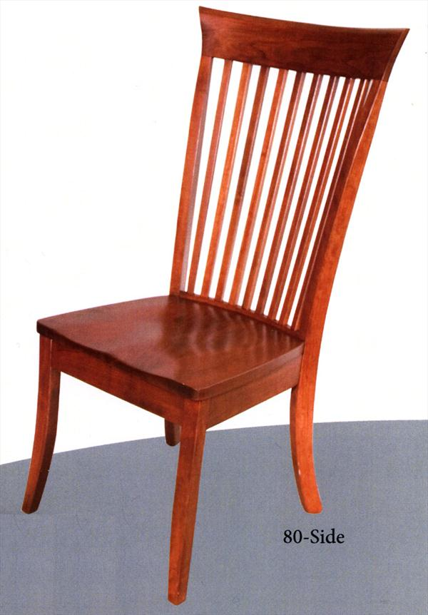 Amish Carlisle Shaker Side Chair Oak and Cherry Hardwood