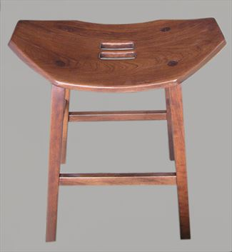 Amish Mission Stool Furniture Cherry Saddle