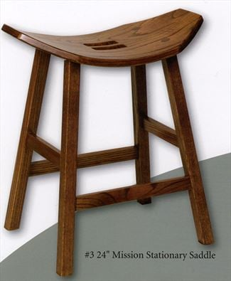 Amish Mission Stool Amish Furniture Oak or Cherry Saddle Stool