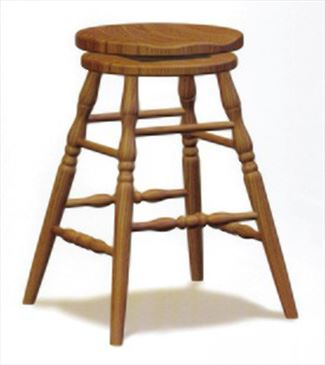 Amish Scoop Seat Swivel Bar Stool Amish Furniture Oak or Cherry or Brown Maple or QS Oak or Hickory Swivel Stool