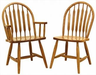 Amish Furniture Low Bent Paddle Hardwood Solid Wood Handmade Oak Fancy Leg Side or Arm Chair