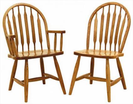 Amish Furniture Low Bent Paddle Hardwood Solid Wood Handmade Oak Fancy Leg Side or Arm Chair