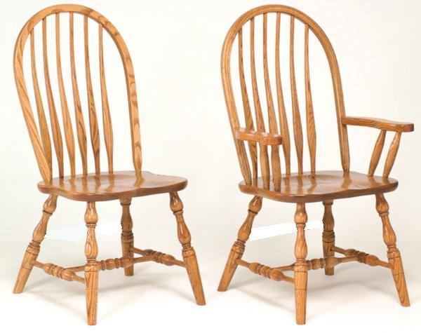 Amish Furniture Bent Paddle Hardwood Solid Wood Handmade Oak Fancy Leg Side or Arm Chair