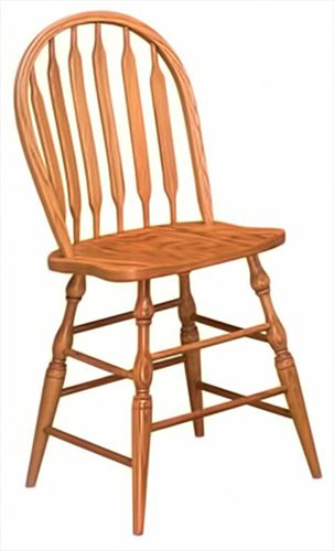 Amish Solid Backed Dining & Kitchen Bent Paddle Back Bar Stool furniture oak Lumbar Support back arm Bar Stool chair