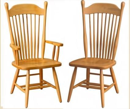 Amish Furniture Farmers Hardwood Solid Wood Handmade OakPlain Leg Side or Arm Chair