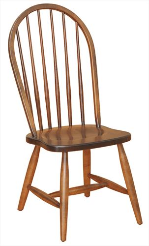 Amish Kitchen/Dining Chair Six Spindle Hardwood Solid Wood Handmade Oak Fancy Leg Side or Arm Chair