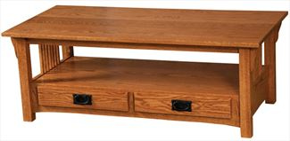 Prairie Mission COFFEE Table Amish Oak or Cherry Table & Hardwoods