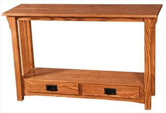 Prairie Mission Sofa Table Amish Oak or Cherry Table & Hardwoods